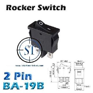 Rocker Switch On Off Saklar Gepeng Kecil 2 Pin Bentuk ...