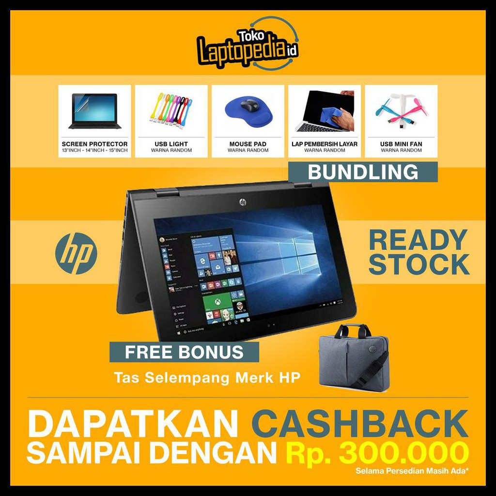 Bisa Cod Laptop Murah Hp Pavilion X360 Celeron N4000 4gb 500gb 11 Hd Uma Win 10 Ab128tu Shopee Indonesia