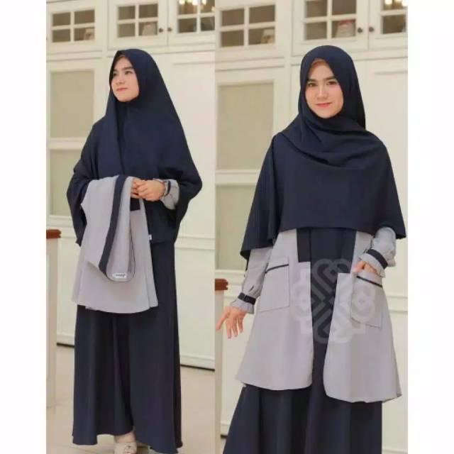 Gamis termurah Elbina set gamis+outer(no hijab)