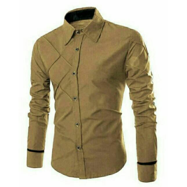Kemeja Pria Lengan Panjang / Xman Cowok / Baju Kantoran Murah Baru Formal Casual Slim Fit