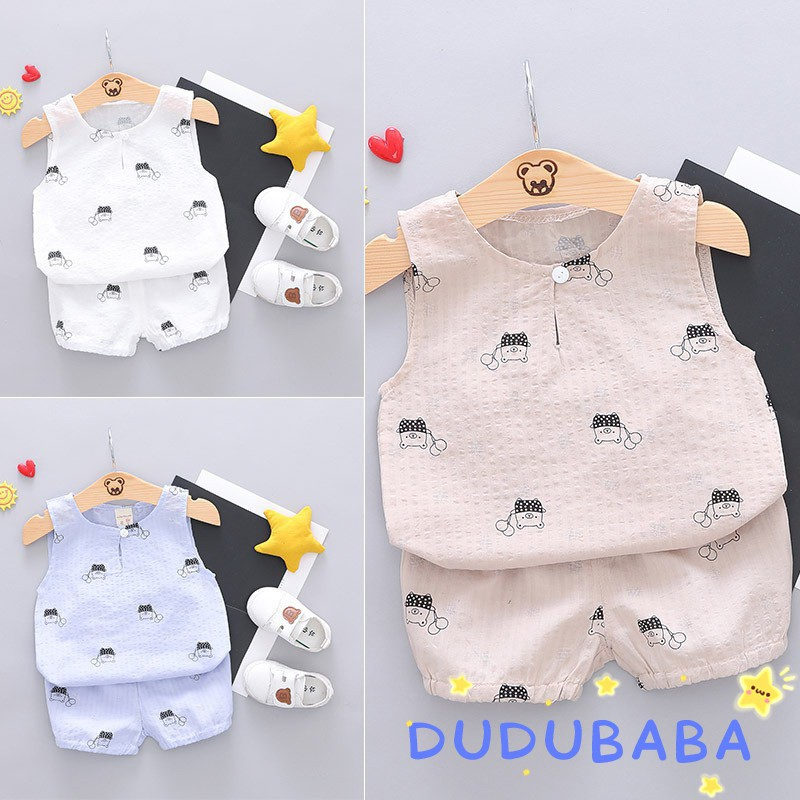Baby Boys Outfits,2PCS Toddler Infant Boys Kids Summer Dinosaur Print Sleeveless Vest Tank Top+Shorts Outfit Set Clothes