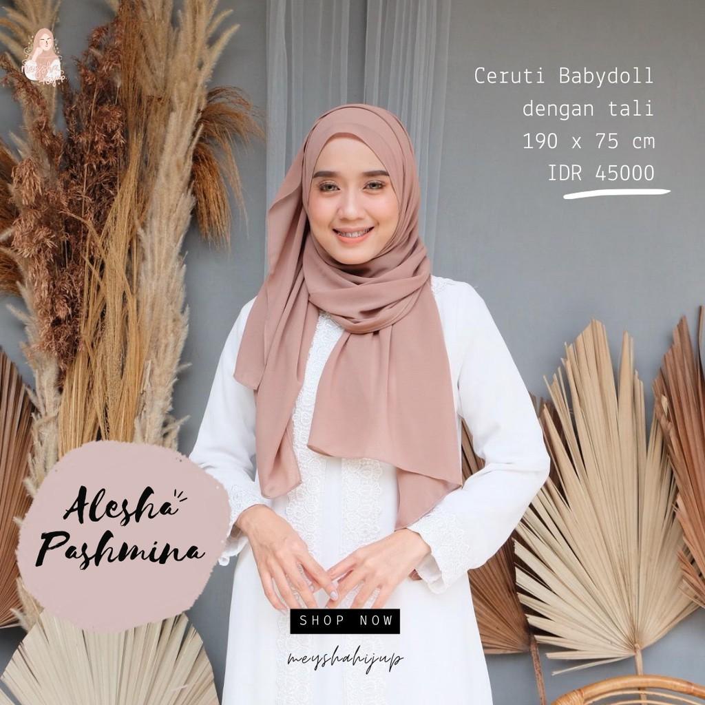 Pashmina Ceruti Babydoll Tali Alesha Pashmina Shopee Indonesia