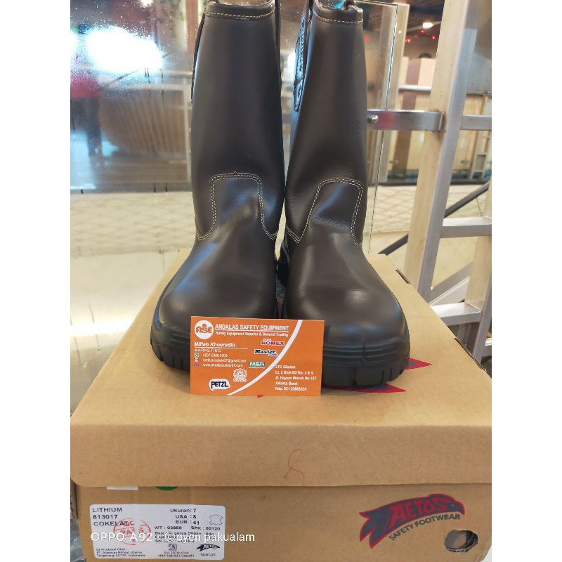 SEPATU SAFETY AETOS LITHIUM BROWN