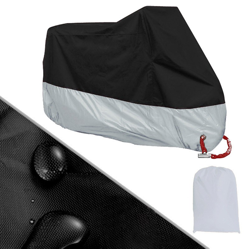 Full Protective Motorcycle Covers Anti UV Waterproof Dustproof Rain Covering Motorbike Breathable Hood Outdoor Indoor Tent