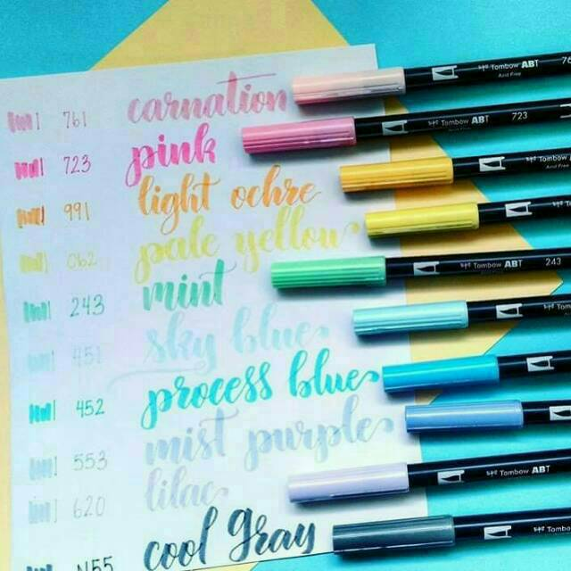 RESTOCK TOMBOW DUAL BRUSH PEN ABT Shopee Indonesia - Tombow abt