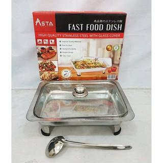 Fast Food Dish Prasmanan Tempat Prasmanan Tutup Full Kaca + SENDOK KUAH Stainless | Shopee Indonesia