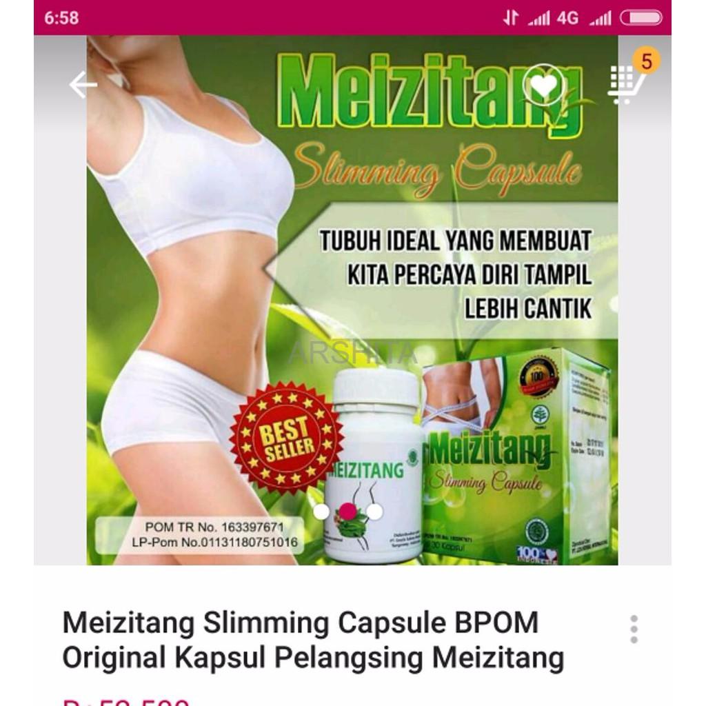 TERMURAH Obat Pelangsing Meizitang Bpom Penahan Nafsu Makan BARANG READY SILAHKAN DI ORDER | Shopee Indonesia