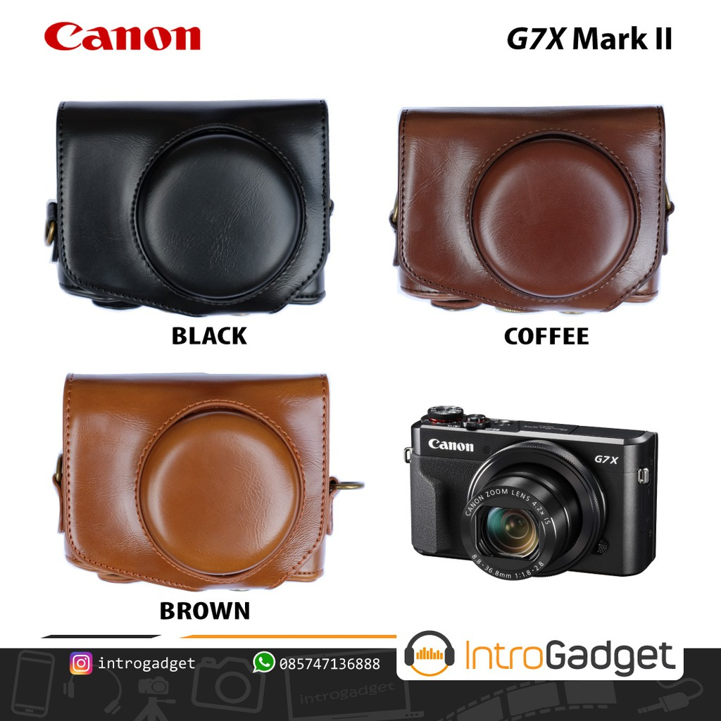 Leather Case For Fuji Xa10 Xa 10 Shopee Indonesia Half Full Bag Strap Tas Casing Tali Kamera Kulit Mirrorless Sony Alpha A6000 A6300 Warna Brown Coklat