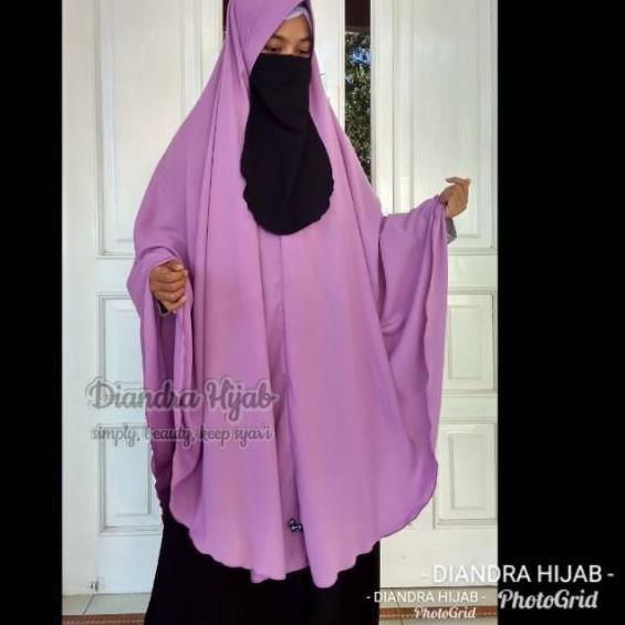 458 Diandra Hijab Jilbab Wolfis Syar I Xxxl Kerudung Wolfis Jumbo Khimar Syar I Pet Antem Dewasa Mu Shopee Indonesia