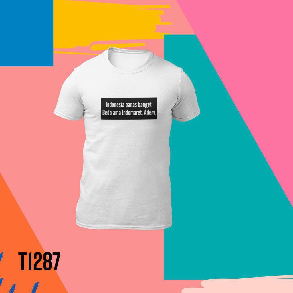 Kaos Kartun Combed Premium Kaos Meme Indonesia Panas Banget Beda