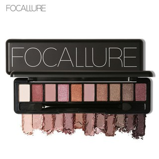 Focallure Palet Eyeshadow 10 Warna Hangat dengan Brush Spons thumbnail