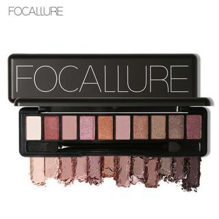 Focallure Palet Eyeshadow 10 Warna Dengan Brush thumbnail