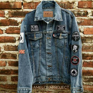 Boston Jacket ( Jaket jeans + Patch ) | Shopee Indonesia