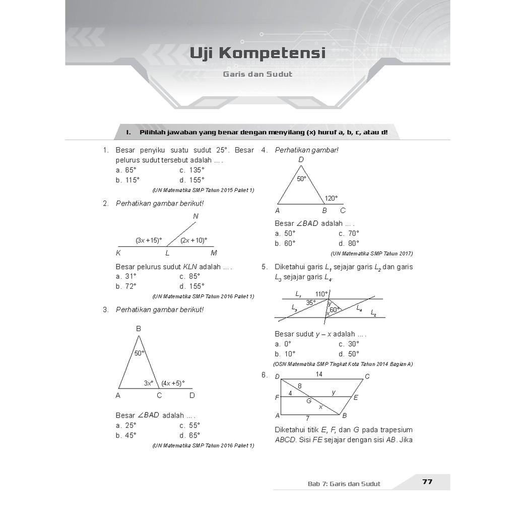 Buku Pendamping Matematika Smp Kelas 7 Kunci Jawaban Incer Shopee Indonesia