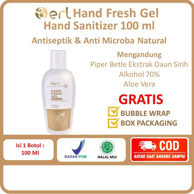 COD Hand Sanitizer B ERL Hand Fresh Gel B Erl 100 ml Halus Lembut Wangi Di Tangan