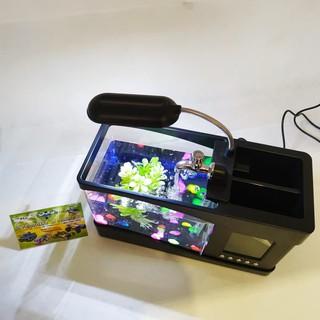 Aquarium Mini Nano USB Akuarium Dekstop Meja Buat Cupang ...