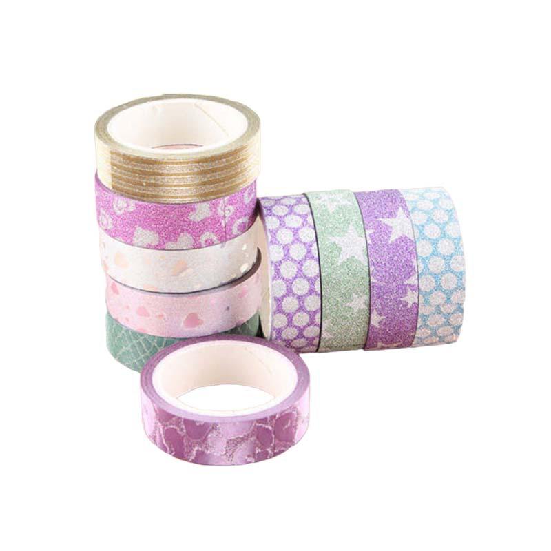 Washi Tape for crafts /& decoration metallic glitter blush pink 15mm x 5m roll
