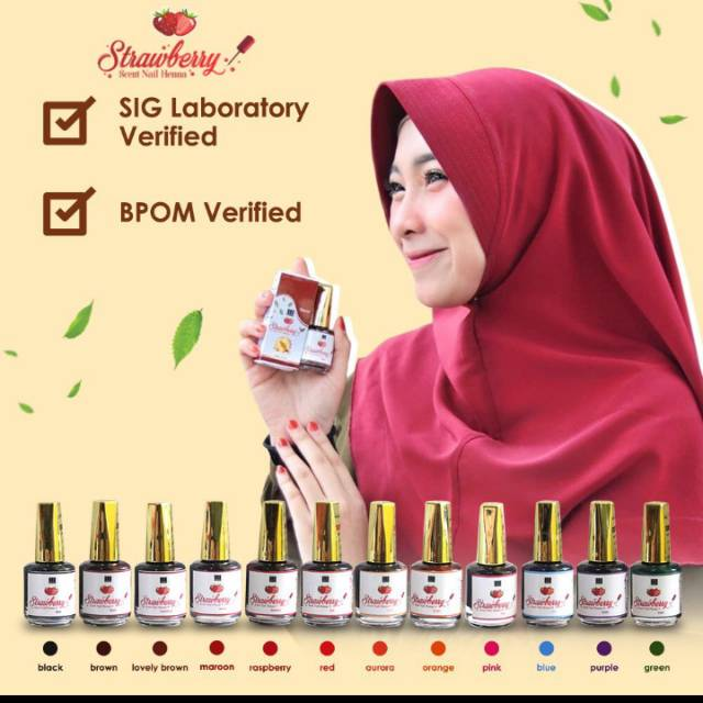Jual Strawberry Nail Henna Hitam: Original Nail Henna Strawbery ( NHS )