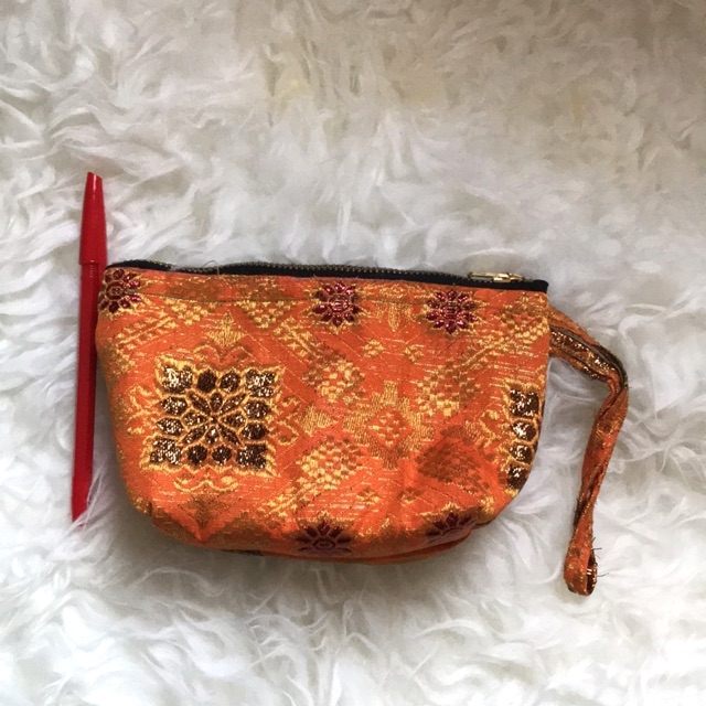 Pouch Dompet Kain Songket Handmade -PD012 | Shopee Indonesia