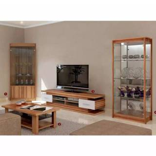 Lemari Sudut Kaca Meja Tamu Lemari Hias Dan Meja Tv Livingroom Set