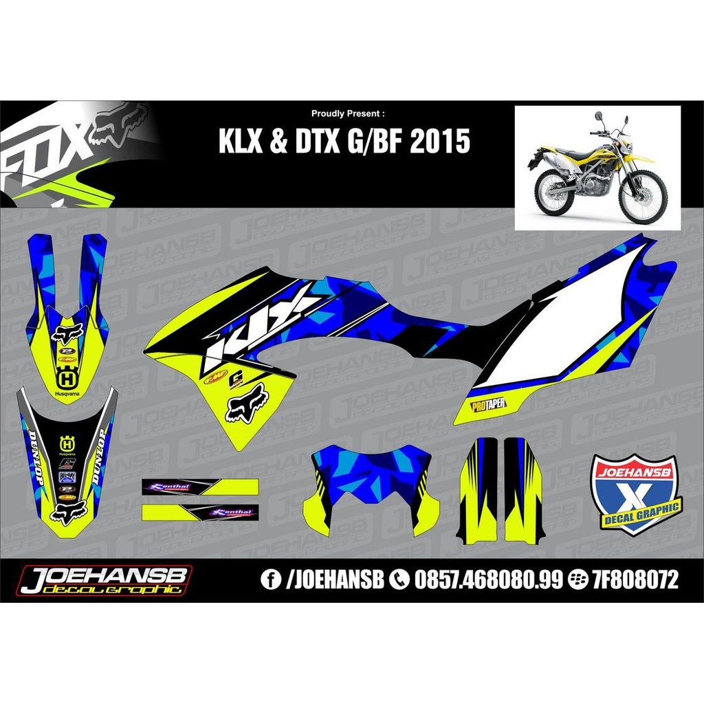 Sticker decal klx 150 bf pink shopee indonesia