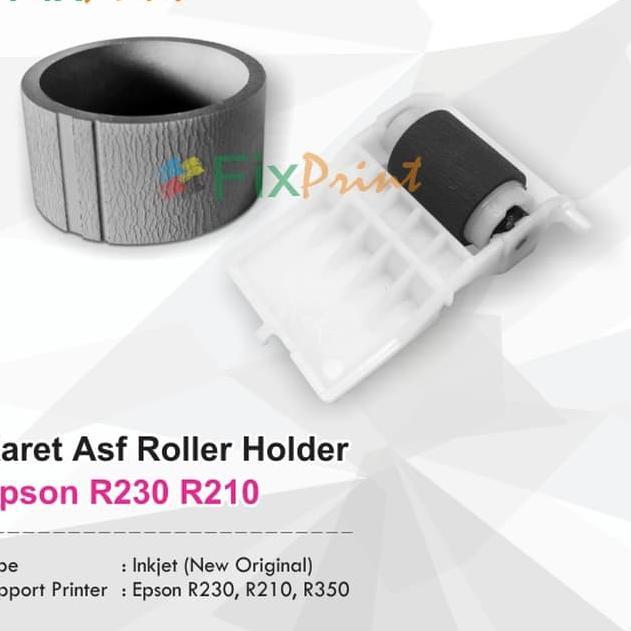 Karet Roller Asf Atas Bawah Epson R230 R210 R250 Plastik Holder Shopee Indonesia