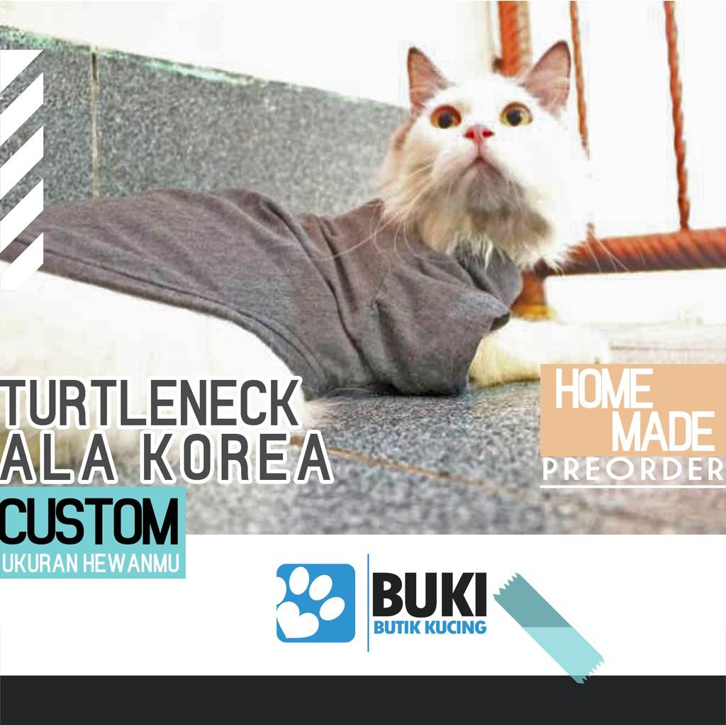 Buki Baju Hewan Kucing Anjing Turtleneck Ala Korea Baju Lucu Hewan Murah Homemade Shopee Indonesia