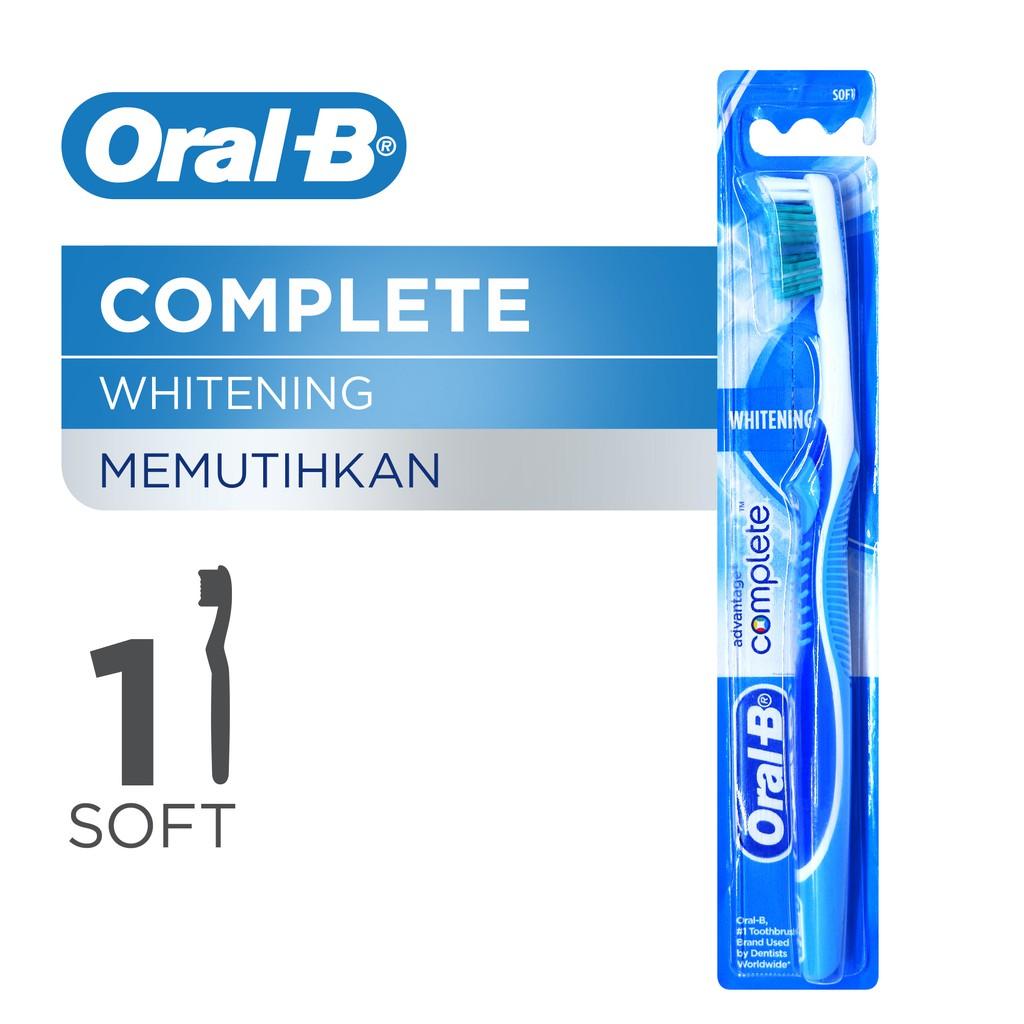 Oral-B Sikat Gigi Complete Whitening Soft 1s  P G   335f3780d5