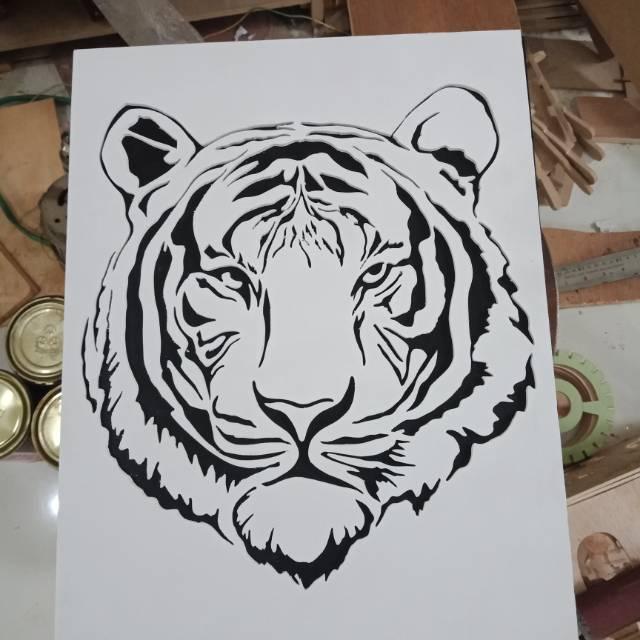 Hiasan Dinding Siluet Macan Harimau Putih Shopee Indonesia