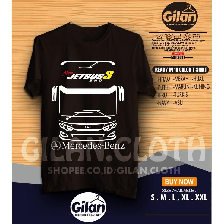 Kaos Distro Bismania Community New Jetbus 3 Shd Mercedes Benz Baju Tshirt Penggemar Bis 056