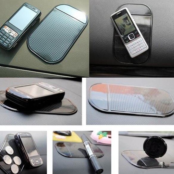 MKChung 4PCs Black Magic Sticky Pad Anti Slip Mat Car Dashboard for Cell Phone