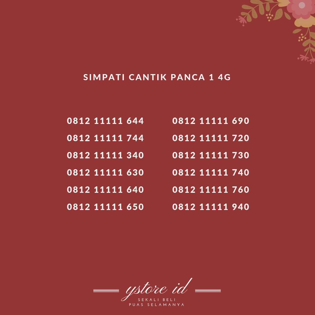 NOMOR CANTIK SIMPATI 11 DIGIT KARTU PERDANA CANTIK TELKOMSEL 4G | Shopee Indonesia