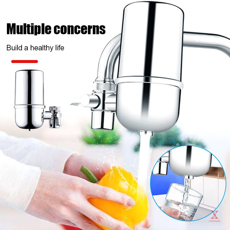 Reusable Faucet Water Filter Durable For Kitchen Sink Mount Filtration Tap Purifier Shopee Indonesia