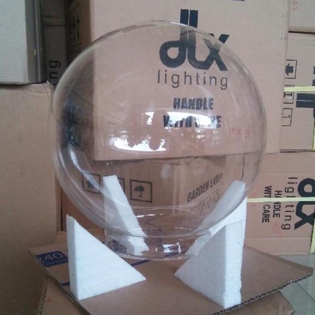 Hanya Kaca Lampu Taman Bulat Bening Diameter 22 5 Tanpa Monting Shopee Indonesia