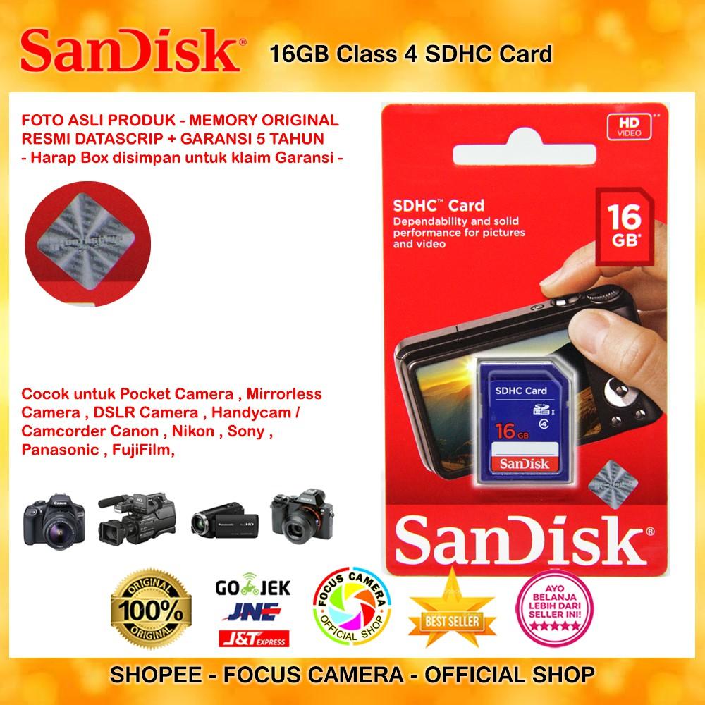 Sandisk 32gb Class 4 Standard Sdhc Card Original Resmi Datascrip Micro Sd Garansi Shopee Indonesia