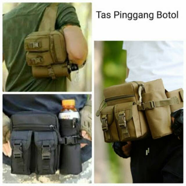 Tas Pinggang Tactical Army Botol Import RECOMMENDED SURVIVAL ...