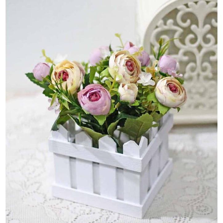 New Product Bunga Plastik Hias Artificial Pot Pagar Kecil Flower Shabby Chic  C1-1 Free Ongkir  5ad3f761db