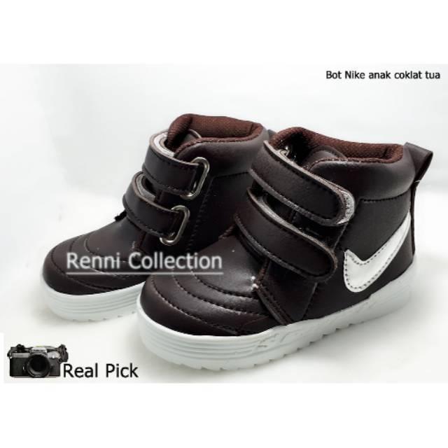 Sepatu Anak Laki-Laki Size 22-25 Sepatu Boots BNN01 Coklat Tua | Shopee