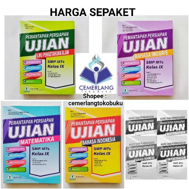 Buku Pemantapan Persiapan Ujian Un Smp Mts Penerbit Akasia 2020 Free Kunci Jawaban Pembahasan Shopee Indonesia