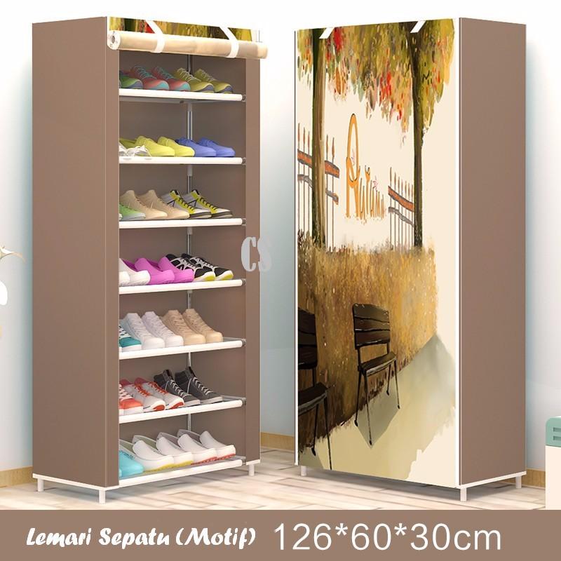 bayar di tempat - lemari 2 pintu sisi tempat tidur motif | Shopee Indonesia