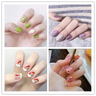 CCelia Avocado Nail Sticker Strawberry Pelangi Tahan Air Cat Kuku Stiker Mahasiswa Pengantin Malas Manicure Nail Art thumbnail