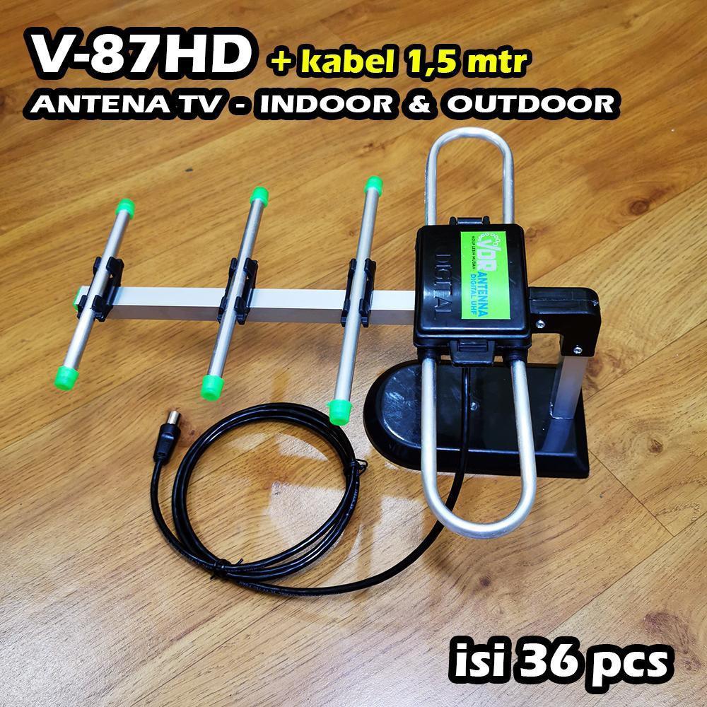 Antena Tv Indoor Outdoor Vdr V 87hd Kabel 1 5m Antena Digital Vdr Antena Tv Murah Shopee Indonesia