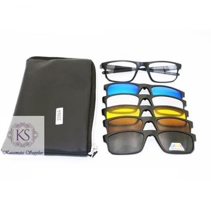 Kacamata   Sunglass Pria Rb Clip On 5 Lensa 2202 Super  72343675f5