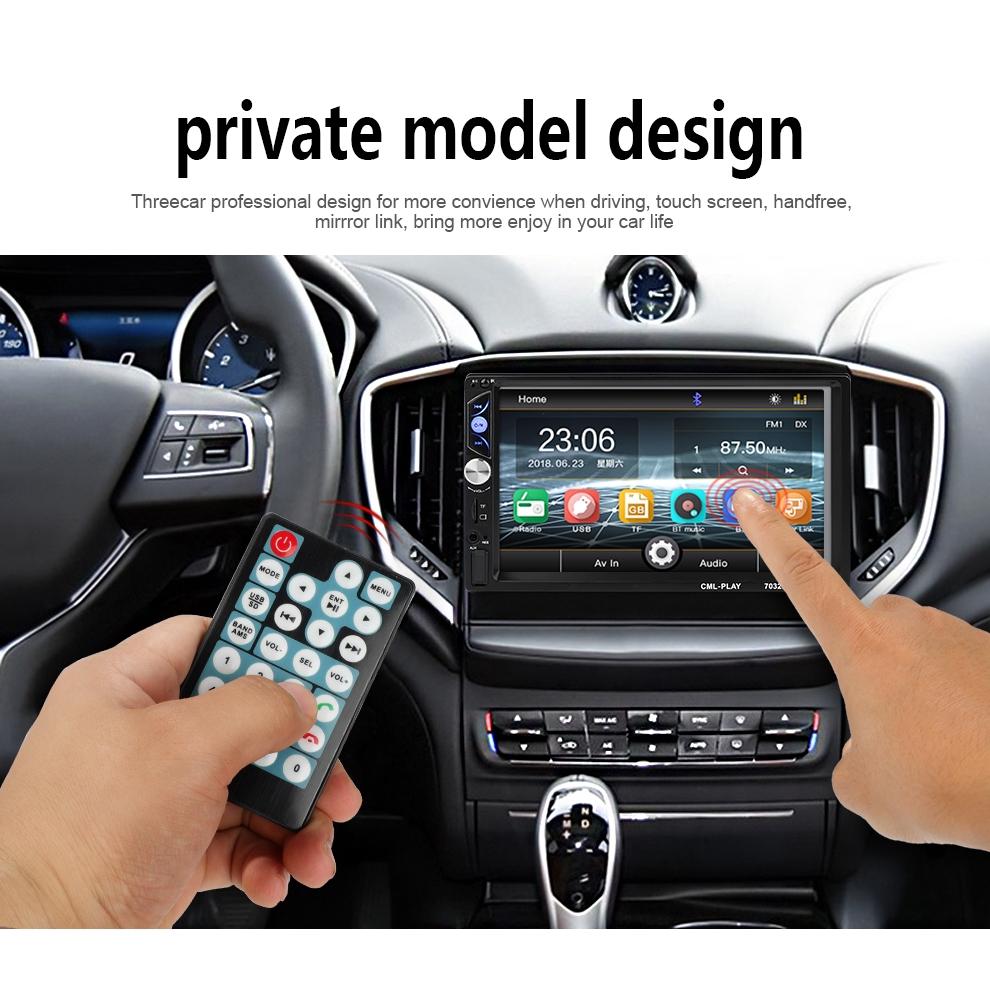 "Rear Camera 7032 7/"" 2 DIN Car Stereo Radio Bluetooth Dual USB AUX MP5 Player"