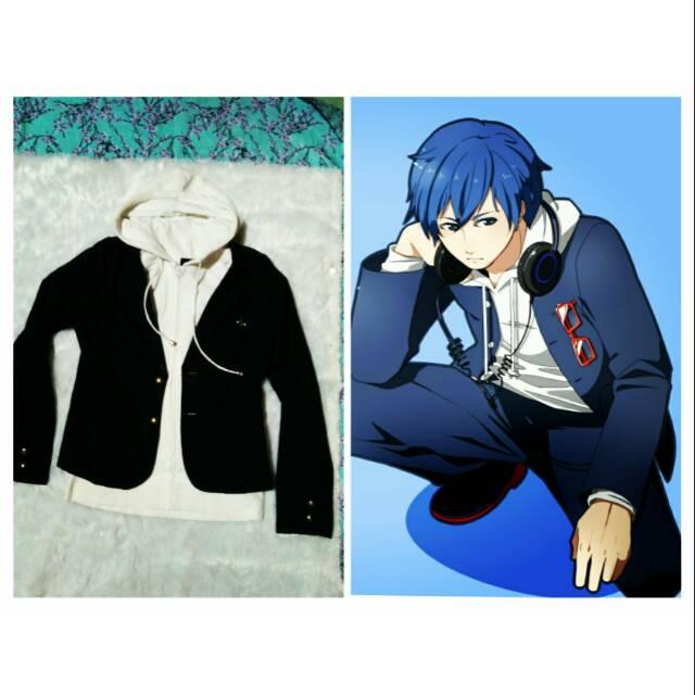 Kostum Cowok Cosplay Blazer Dan Hoddie Anime School Boy