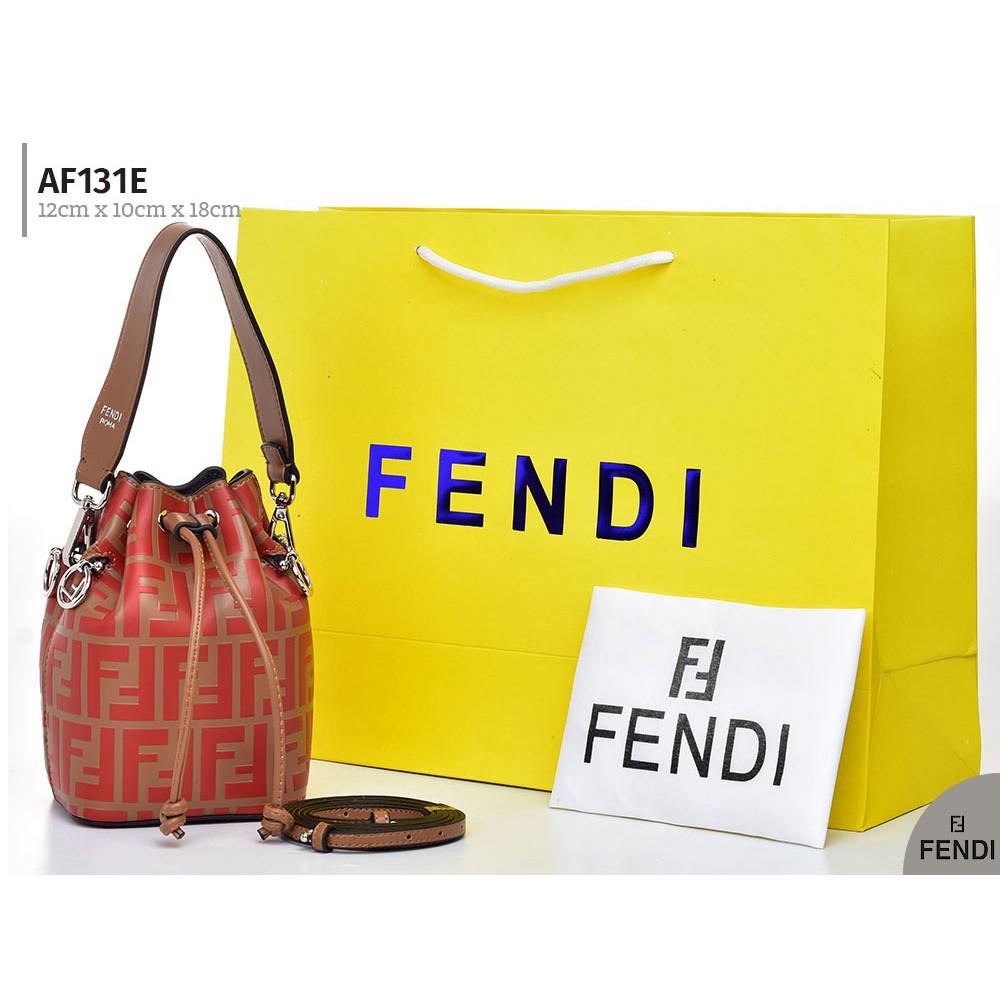 Tas Fendi Mon Tresor Bucket FF Embossed Mini Twotone AF131-2 ... 3c18162c5e