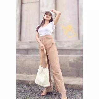 Celana Kulot Panjang Kancing HW Allsize Bali | Shopee