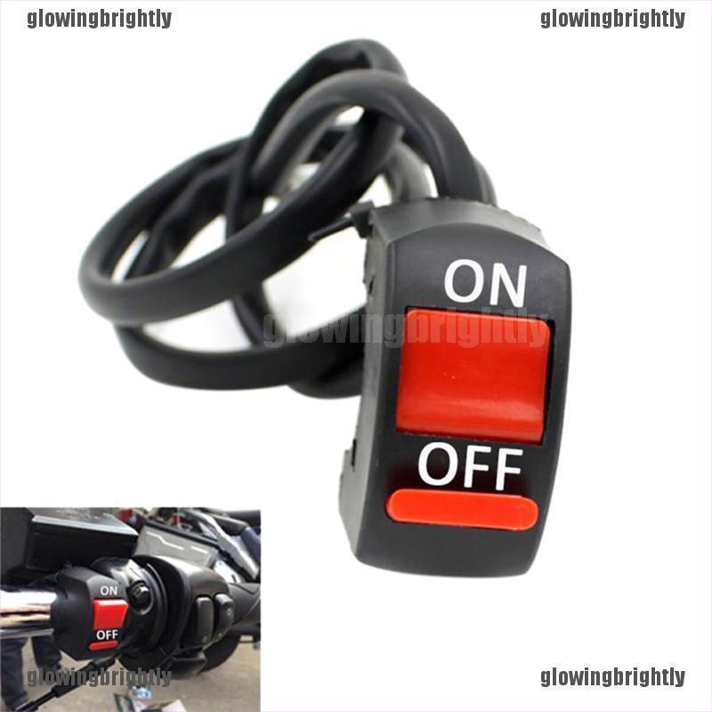 7//8 Motorcycle ATV Bike Handlebar Accident Hazard Light Switch ON OFF