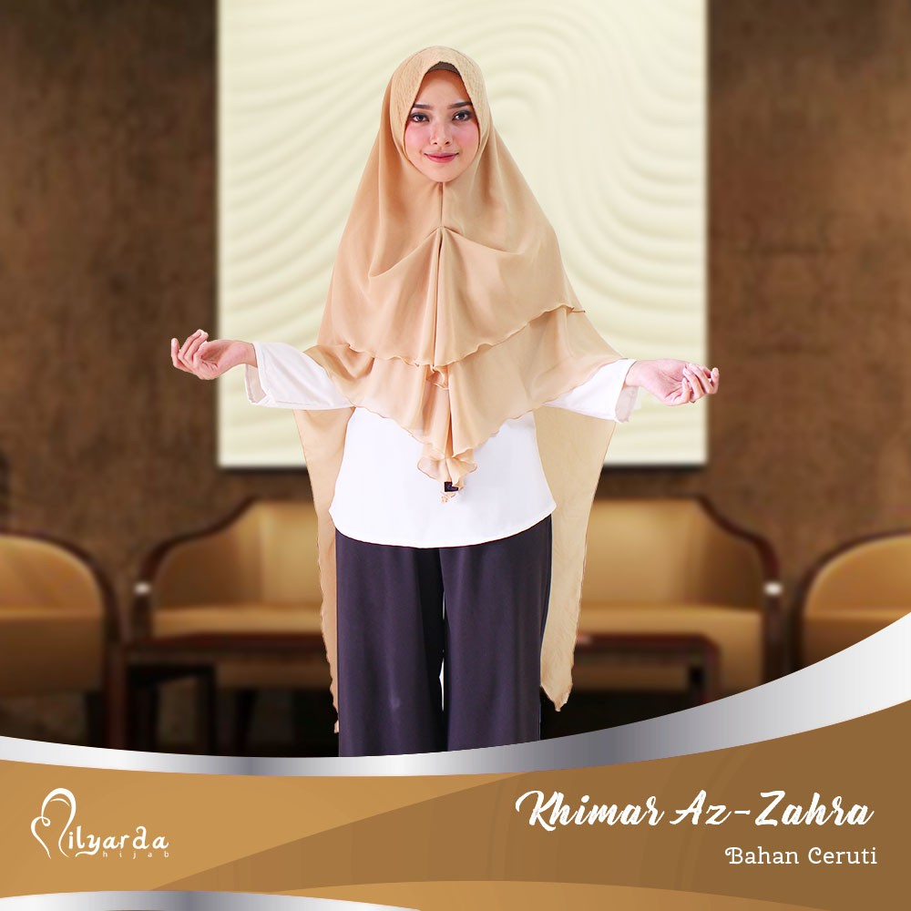 Milyarda Hijab Khimar Instan Ayasha Syari Simple Pet Antem Jilbab Bandingkan Pashmina Zahra Semi Set Cadar