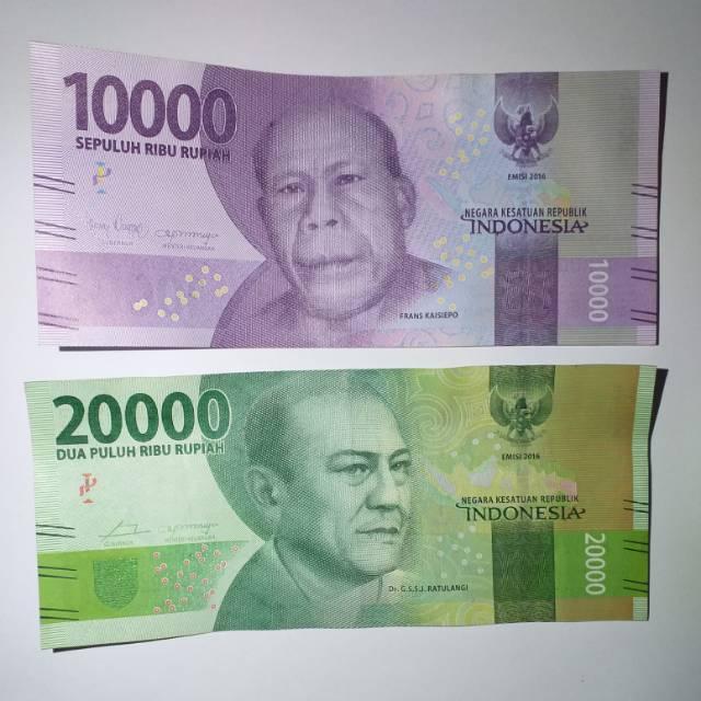 Gambar Uang Lima Ratus Ribu Uang Asli Rupiah Republik Indonesia Pecahan Rp 20 000 Rp 10 000